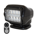 STRYKER - LED Remote Control Searchlight With Wireless Handheld Remote - Black 30514 Stryker, Lights, lighting, wireless, remote, searchlight, searchlights, mount, mounting, search, light, safety, LED, Halogen, beam, light beam, search & rescue, rescue, search and rescue, CERT, emergency, spotlight, spot light, agriculture, farm, farming, farmer, outdoor, nighttime, outdoor activities, camp, camping, hunting, boating, off-roading, offroading, event lights, event lighting, lighting, fire, police, municipal, tow, towing, plow, plowing, snow plow, truck lights, rv, RV, recreation, recreation vehicle, law enforcement, marine lighting, work vehicle lights, golight, Golight, Golite, golite, radioray, Radioray, radio, ray, vehicle, truck, vehicle lighting, automotive, heavy equipment, floodlight, flood, light