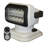 SEARCHLIGHT by Golight - LED PORTABLE RADIORAY W/MAGNETIC SHOE - WHITE Lights, lighting, wireless, remote, searchlight, searchlights, mount, mounting, search, light, safety, LED, Halogen, beam, light beam, search & rescue, rescue, search and rescue, CERT, emergency, spotlight, spot light, agriculture, farm, farming, farmer, outdoor, nighttime, outdoor activities, camp, camping, hunting, boating, off-roading, offroading, event lights, event lighting, lighting, fire, police, municipal, tow, towing, plow, plowing, snow plow, truck lights, rv, RV, recreation, recreation vehicle, law enforcement, marine lighting, work vehicle lights, golight, Golight, Golite, golite, radioray, Radioray, radio, ray, vehicle lighting, automotive, heavy equipment, floodlight, flood, light